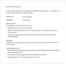account executive job description template u2013 9 free word pdf