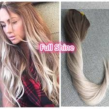 best clip in extensions shine 7 pcs ombre balayage clip in remy human hair extensions