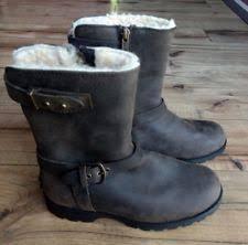ugg womens grandle boots black ugg australia grandle black leather boots womens 10 ebay