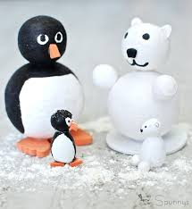 penguins and polar bears easy diy ornaments spun cotton