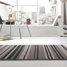 Grey Striped Rug Modern Stripe Rug Grey Black Hall Runner 60cm X 220cm Amazon Co