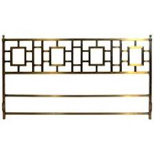 steel leather and brass platform king size bed by paolo piva for