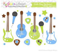 instant download little boy rockstar clip art guitar clipart