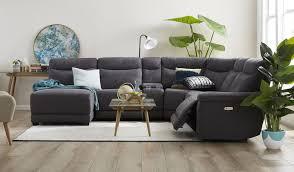Fabric Corner Recliner Sofa Carlton 6 Seat Corner Lounge Focus On Furniture