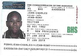 emergency travel document images Jean rony come home the tribune jpg