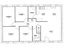 plan de maison 4 chambres plain pied plan maison plain pied 4 chambres en u madame ki de
