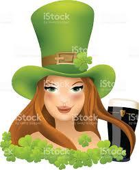 irish with shamrock on saint patricks day stock vector art