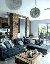 idee deco salon canape noir deco salon noir gris blanc beautiful deco salon gris blanc u