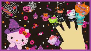 hello kitty halloween song finger family nursery rhymes for kids