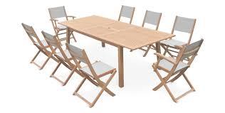 salon jardin 8 personnes salon de jardin en textilène table 8 chaises salon de jardin 8