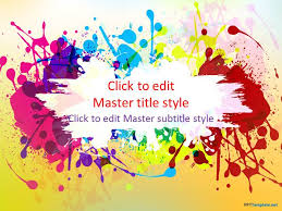 art powerpoint templates powerpoint art templates free color ppt