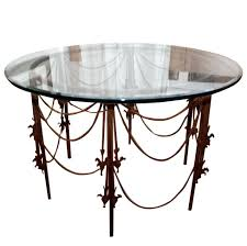 Vintage Wrought Iron Patio Furniture For Sale by Vintage Wrought Iron Circular Table For Sale At 1stdibs