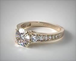 what is milgrain taper milgrain diamond engagement ring 18k yellow gold
