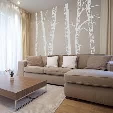 silver birch trees vinyl wall sticker by oakdene designs
