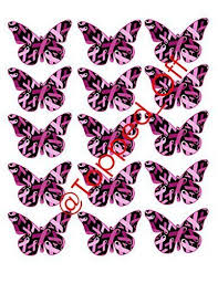 15 x large pink ribbon butterflies for breast cancer awareness