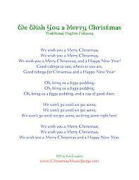 wish you a merry lyrics