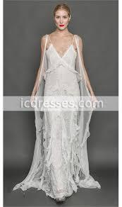 Summer Garden Dresses - bohemian 2017 lace wedding dresses sheath spaghetti straps