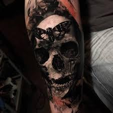 grey skull butterfly best ideas gallery tattoos