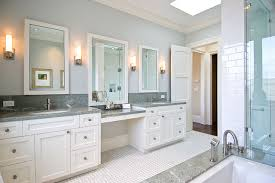 his and hers vanities painted cabinets granite counters granite