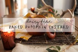 dairy free pumpkin custard baked in the shell sal et