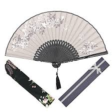 held folding fans omytea morning women held silk folding fans with