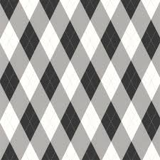 designer selection check wallpaper white grey black 57359044