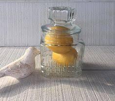 vintage glass kitchen jar vintage glass jar storage jar with