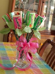 bouquet of one dozen packs of gum that i made for my when