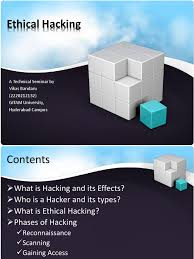 a presentation on ethical hacking security hacker white hat