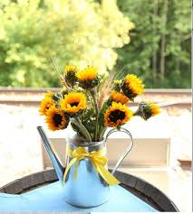 sunflower centerpiece wedding sunflowers costco ikea diy sunflower centerpiece watering