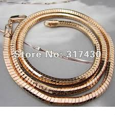 rose gold snake necklace images Mens rose gold necklace clipart jpg
