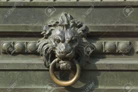 lion door knocker new york city lion door knocker stock photo picture and