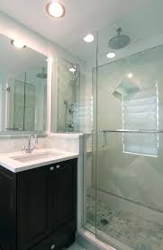 Glass Showers For Small Bathrooms Bathroom Small Bathroom With White Washstand And Small Faucet
