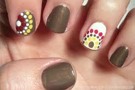 fall colored polka dot nail art more com