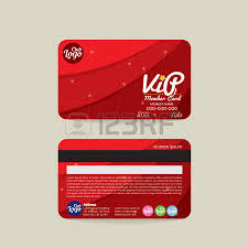 front and back vip member card template sea and beach concept