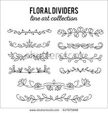 line ornaments flourishes dividers set stock vector 617975666