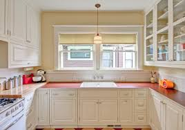 Design Of Kitchen Cabinets Pictures Kitchen Retro Style Kitchen With White Cabinets And