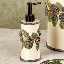 pinehaven rustic pine cone bath accessories