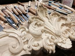 Dining Room Armoire by Hand Carved Built In Armoire Bonnet For Boiserie Dining Room