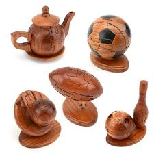 buy wooden craft ornaments sporting rugby lock luban lock