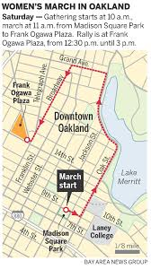 Traffic Map San Diego by Map For The Oakland Women U0027s March And Rally