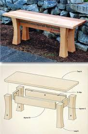 Outdoor Wooden Bench Plans by 25 Best Outdoor Furniture Plans Ideas On Pinterest Designer