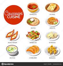 cuisine caucasienne menu de cuisine caucasienne image vectorielle sonulkaster 150422090