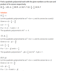 ncert solutions for class 10 maths polynomials