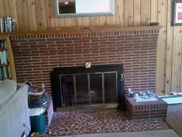 modern gas fireplace lembab com floor to ceiling brick makeover
