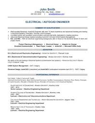 Objective For Electrical Engineer Resume Resume Examples Electrical Engineering Resume Template Mechanical