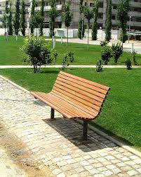 simple minimalist outdoor park bench design with awesome curved