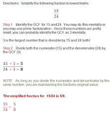 how to simplify fractions
