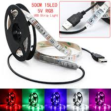 replacing led lights in tv 5v usb powered rgb colour change led strip computer tv usb backlight