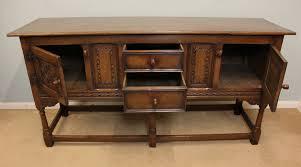 antique oak sideboard buffet with mirror
